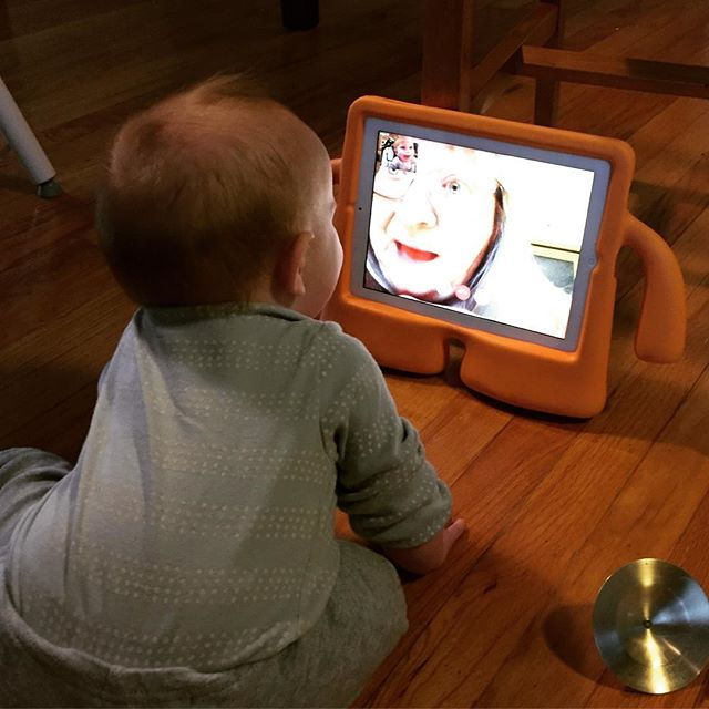 Instagram: FaceTime peekaboo with Grammy.