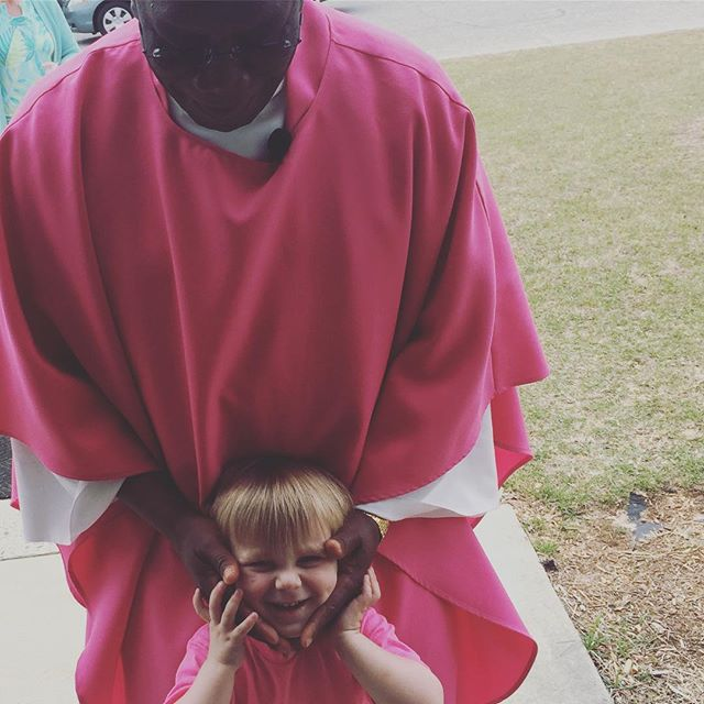 Instagram: Laetare Sunday with pink all around! #lent